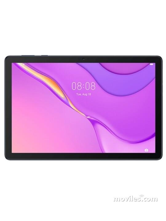 Photos Varias vistas de Tablet Huawei MatePad T 10s Bleu y Doré. Détail de l'écran: Varias vistas
