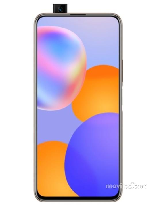 Fotografía grande Varias vistas del Huawei Y9a Argent y Noir y Rose. En la pantalla se muestra Varias vistas