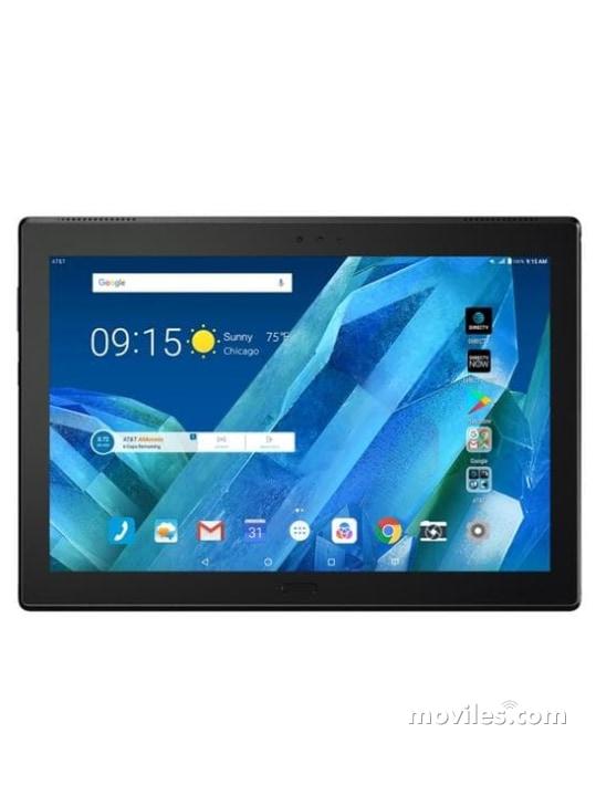 Fotografía grande Varias vistas del Tablet Motorola Moto Tab Noir. En la pantalla se muestra Varias vistas