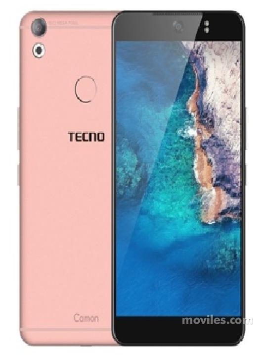Photos Varias vistas de Tecno Camon CX Bleu y Gris y Doré y Rose. Détail de l'écran: Varias vistas